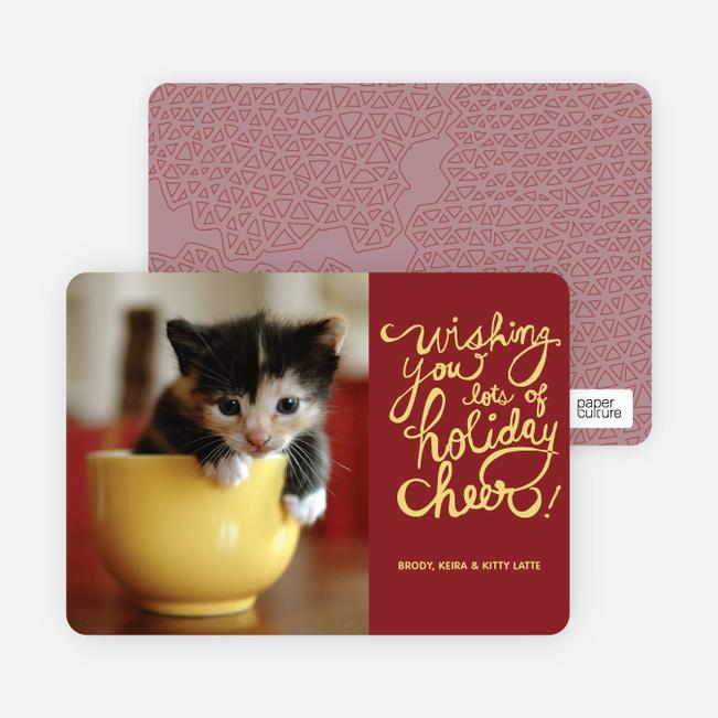 Holiday Cheer Holiday Photo Cards - Lemon Yellow