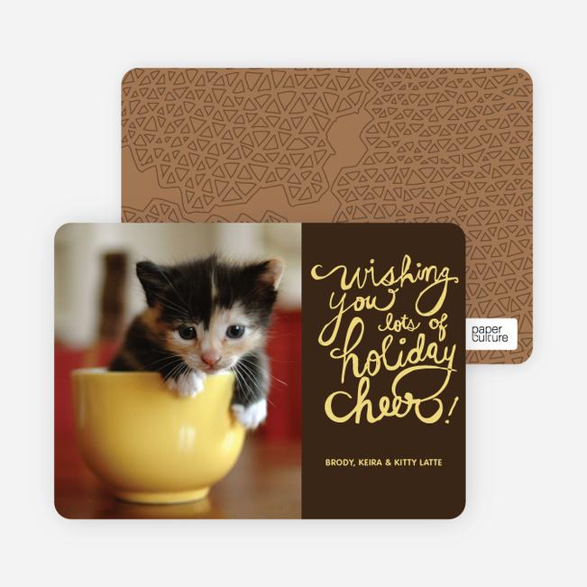Holiday Cheer Holiday Photo Cards - Terra Cotta