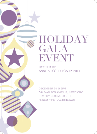 Holiday Gala Holiday Party Invitations - Wisteria