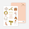 Holiday Icons Holiday Invitations - Olive Green