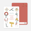 Holiday Icons Holiday Invitations - Gold