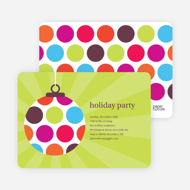 Holiday Ornament Party Invitations - Multi