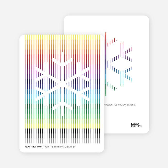 Holiday Cards: Rainbow Stripes - Rainbow