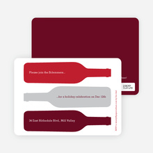 Holiday Wine Party Invitations - Maroon