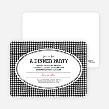 Houndstooth Party Invitations - Black