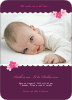Rustic Floral Photo Baby Announcement - Grape