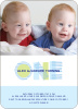 Modern Blue 1st Birthday Invitation - Baby Blue