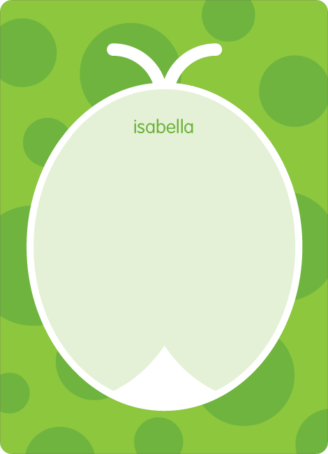Personal Stationery for Green Ladybug Modern Birthday Invitation - Shamrock