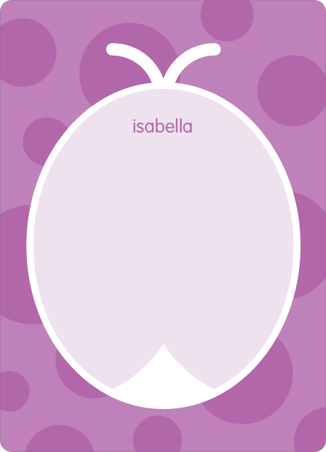 Personal Stationery for Purple Ladybug Modern Birthday Invitation - Amethyst