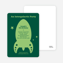 Intergalactic Party - Forest Green
