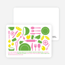 Iron Chef Party Invitations - Pesto Perfecto