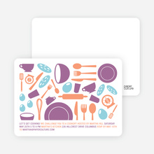 Iron Chef Party Invitations - Grape Cheesecake