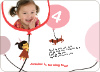 99 Red Balloons Minus a Few Birthday Party Invitation - Dusty Pink