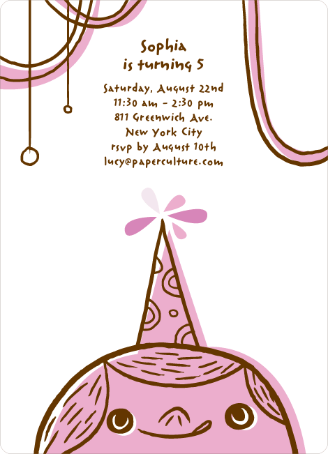 Birthday Party Celebration Invitations - Lavender