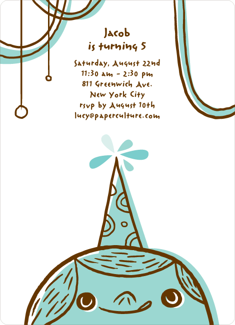 Birthday Party Celebration Invitations - Aquamarine