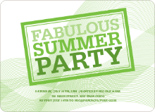 Fabulous Summer Party Invitations - Asparagus