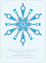 Kaleidoscope Holiday Invitations - Powder Blue