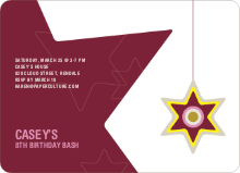 A Star is Made Birthday Party Invitation - Maroon