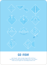 Origami Fish Invitations - Cobalt