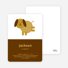 Kids Modern Birthday Invitations Featuring Skip the Dog - Sandal
