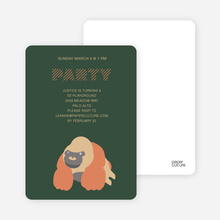 King Kang Birthday Invite - Forest Green