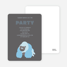 King Kang Birthday Invite - Grey