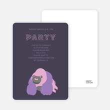 King Kang Birthday Invite - Midnight Blue