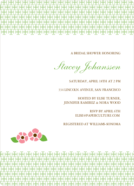 Garden Baby Shower Invitation - Paper Culture Green
