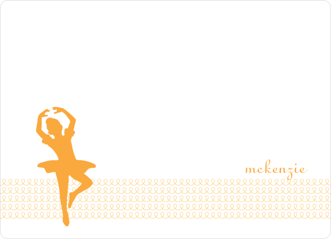 Personal Stationery for Orange Ladybug Modern Birthday Invitation - Apricot