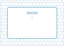 Nautical Announcement: Personal Stationery - Cadet Blue