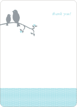 Classic Bird: Thank You Cards - Light Turquoise