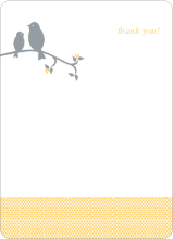 Thank You Card for Classic Bird Baby Shower Invitation - Apricot