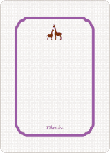 Classic Giraffe: Thank You Cards - Violet