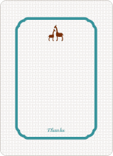 Classic Giraffe: Thank You Cards - Teal