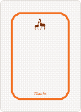 Classic Giraffe: Thank You Cards - Carrot