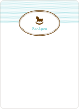 Note Cards: 'Classic Rocking Horse' cards. - Aquamarine