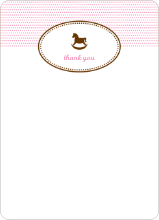 Note Cards: 'Classic Rocking Horse' cards. - Cotton Candy