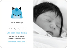 Denny the Dragon Announcements - Cornflower Blue