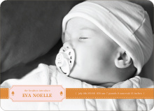 Binky Pacifier Baby Announcements - Apricot