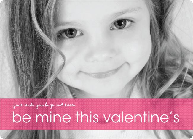 Be Mine Valentine's Day Photo Cards - Fuschia