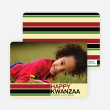 Kwanzaa Bars Photo Cards - Buttercup