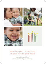Kwanzaa Candles Photo Cards - Cinnamon