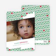 Kwanzaa Triangles Holiday Photo Cards - Wintergreen