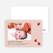 Ladybug Ladybug Photo Birth Announcements - Adobe