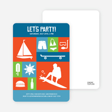 Let's Get this Party Started Invitations - Cobalt