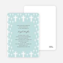 Light of the Cross Baptism and Christening Invitations - Blue Green