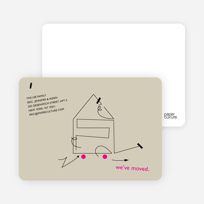 Line Art Moving Card - Concrete
