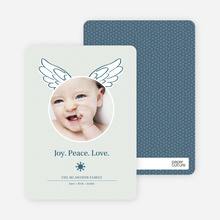 Little Angel Holiday Photo Cards - Mystic Blue