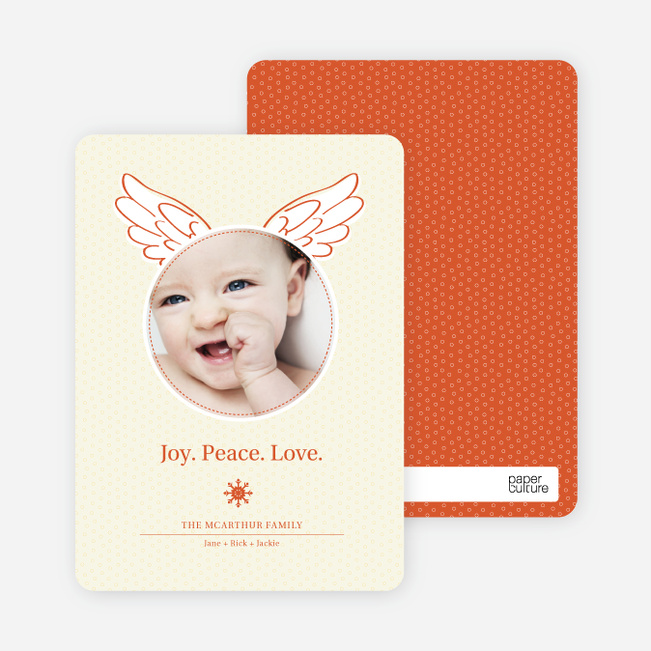 Little Angel Holiday Photo Cards - Tangerine