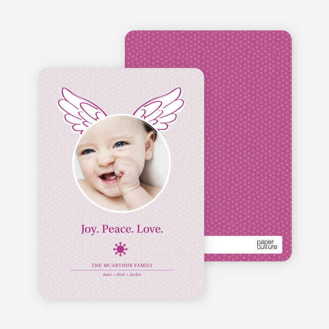 Christmas Cards: Little Angel - Magenta